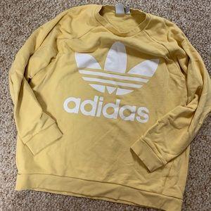 Adidas yellow crew neck😊